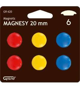 Magnesy 20mm (6szt.) GR-620 Grand